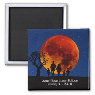 Aimant Éclipse lunaire 2018 de lune de sang