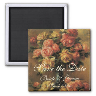 Aimant Économies de cru la date ! Roses dans un vase 3
