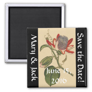 Aimant Économies florales de fleur vintage de passion