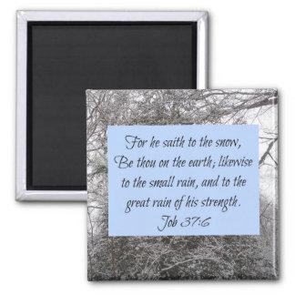 Aimant Écriture sainte de neige