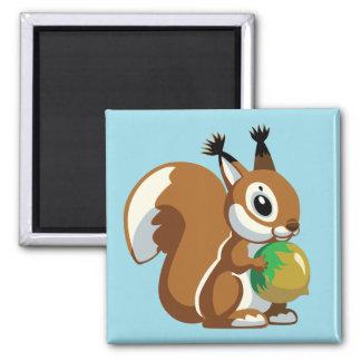 Aimant écureuil de bande dessinée