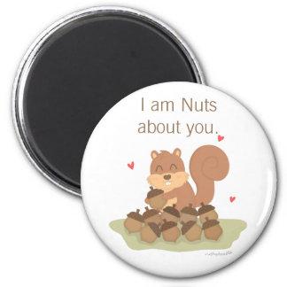 Aimant Écureuil mignon je suis Nuts au sujet de vous