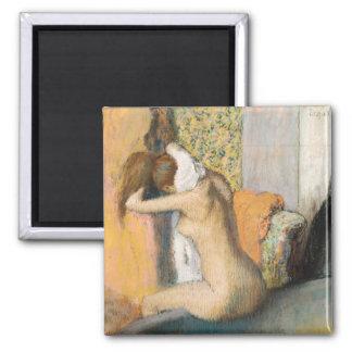 Aimant Edgar Degas | après Bath, cou de séchage de femme