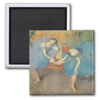 Aimant Edgar Degas | deux danseurs au repos, danseurs