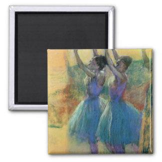 Aimant Edgar Degas | deux danseurs bleus