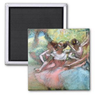 Aimant Edgar Degas | quatre ballerines sur l'étape