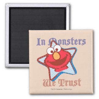 Aimant Elmo - dans les monstres nous faisons confiance