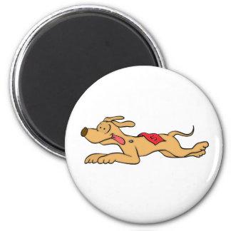 Aimant Emballage de chien de lévrier de bande dessinée