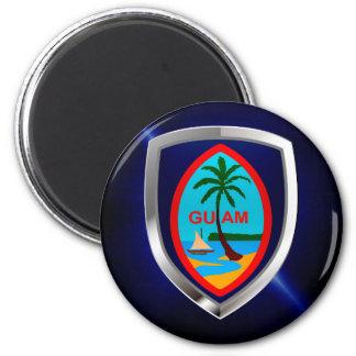 Aimant Emblème de la Guam Mettalic