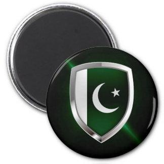 Aimant Emblème métallique du Pakistan