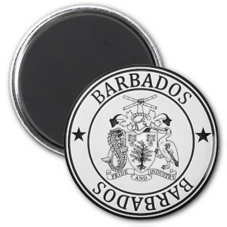 Aimant Emblème rond des Barbade