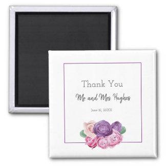 Aimant Épouser ultra-violet et rose de roses vous
