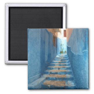 Aimant Escalier bleu étroit au Maroc
