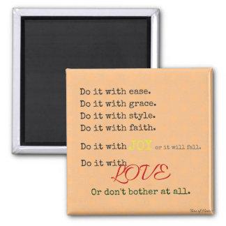 Aimant Faites-le avec l'aimant d'amour