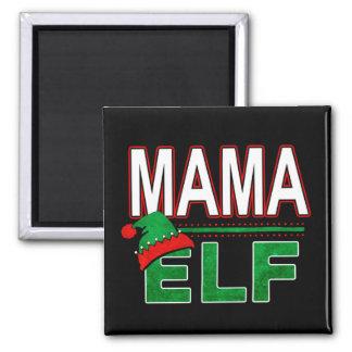 Aimant Famille de vacances de Noël d'Elf d'équipe de
