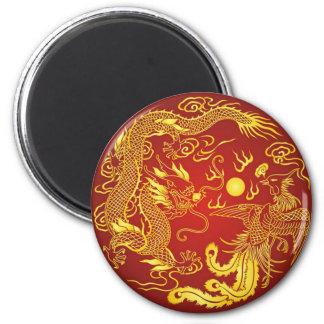Aimant Faveur chinoise de mariage de Phoenix de dragon