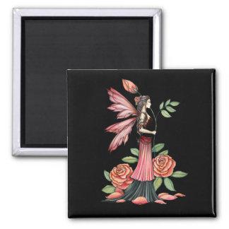 Aimant Fée rose de Pin de bouton féerique gothique