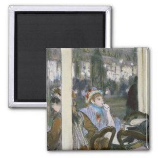 Aimant Femmes d'Edgar Degas | sur une terrasse de café,