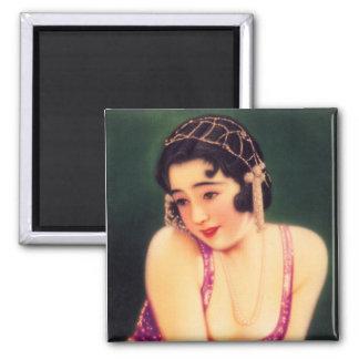 Aimant Fille de geisha japonaise de femmes vintages belle