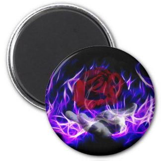 Aimant Flamme violette rose et main de dieux