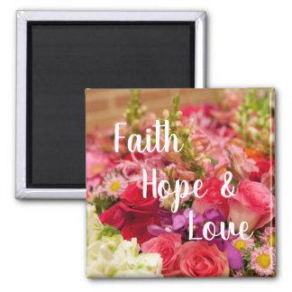 Aimant Fleurs d'espoir et d'amour de foi