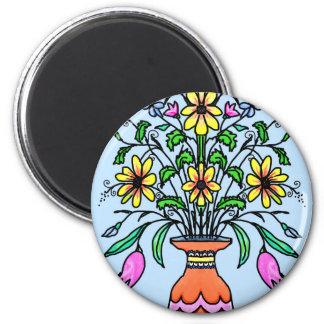 Aimant Fleurs et vase reflétés