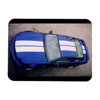 Aimant flexible bleu de voiture de muscle
