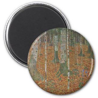 Aimant Forêt de bouleau par Gustav Klimt, art vintage