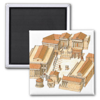 Aimant Forum impérial. Rome. Vue aérienne