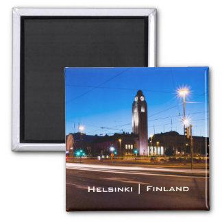 Aimant Helsinki central pendant l'heure bleue