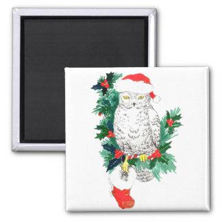 Aimant Hibou lunatique et bas de Noël conçus