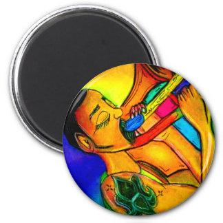 Aimant Homme de jazz d'arc-en-ciel