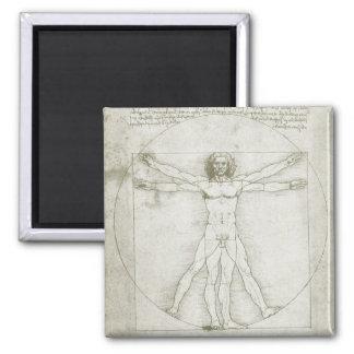 Aimant Homme de Vitruvian par Leonardo da Vinci