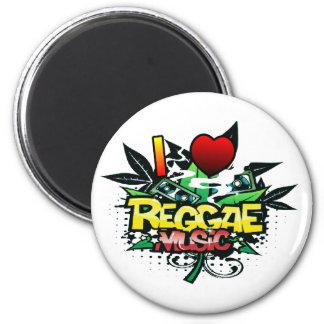 Aimant I musique de reggae de coeur