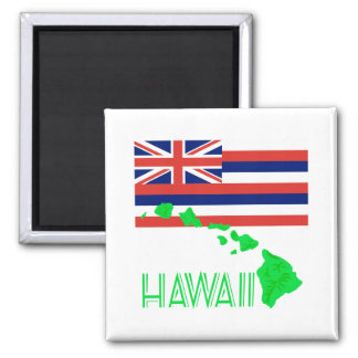 Aimant Îles hawaïennes et drapeau
