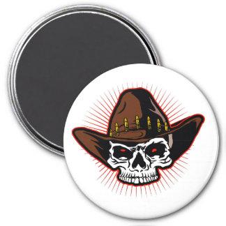 Aimant Illustration de vecteur de crâne de cowboy