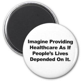 Aimant Imaginez les vies des personnes de soins de santé
