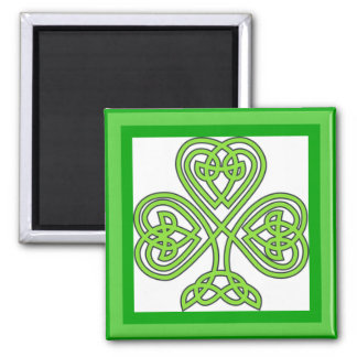 Aimant irlandais de shamrock, cadeau du jour de St