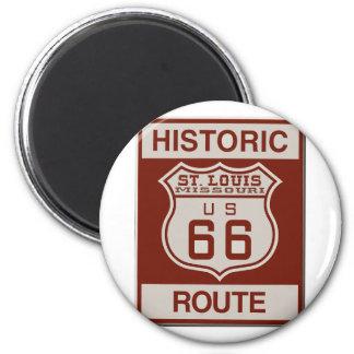 Aimant Itinéraire 66 de St Louis