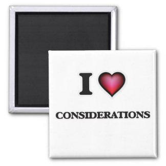 Aimant J'aime des considérations
