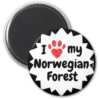 Aimant J'aime mon chat norvégien de forêt