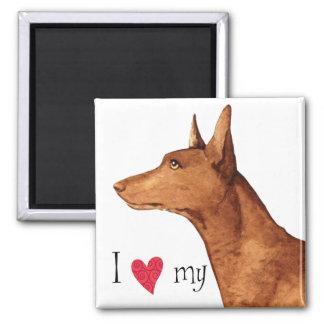 Aimant J'aime mon chien de pharaon