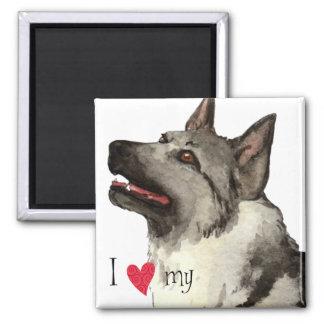 Aimant J'aime mon Elkhound norvégien