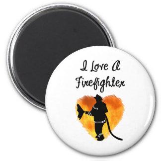 Aimant J'aime un sapeur-pompier