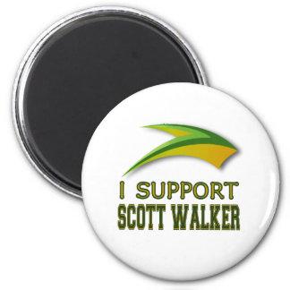 Aimant Je soutiens le marcheur de Scott du Gouverneur du