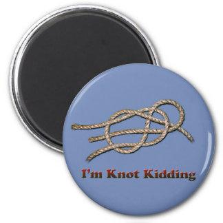 Aimant Je suis badiner de noeud - bouton rond