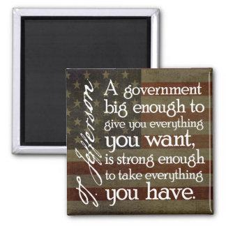 Aimant Jefferson : Prenez garde du grand gouvernement
