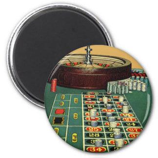 Aimant Jeu vintage de casino de Tableau de roulette,
