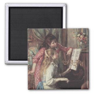 Aimant Jeunes filles au piano par Pierre Renoir