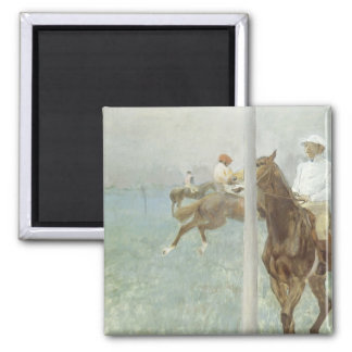 Aimant Jockeys devant la course par Edgar Degas